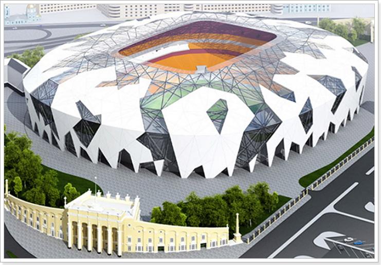 реконструкция стадиона в Екатеринбурге