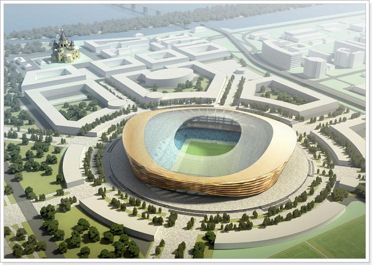 Нижний Новгород чм 2018 стадион строительство