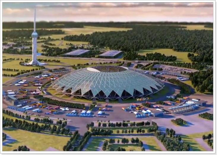 Строительство «Cosmos Arena» в Самаре