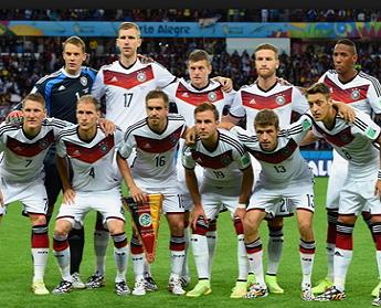 Немецкая сборная по футболу в составе
