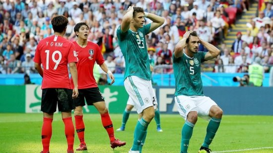 Сборная Германии впервые в истории не вышла из группы на мировом первенстве