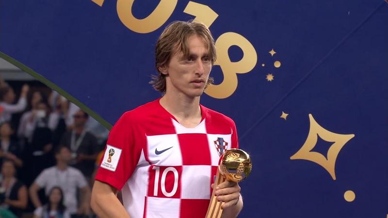 Лучший игрок чемпионата мира Лука Модрич получил «Золотой мяч» ЧМ-2018